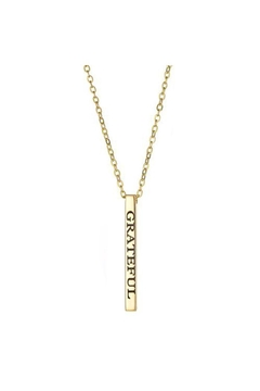Lets Accessorize Grateful Bar Necklace - Product List Image