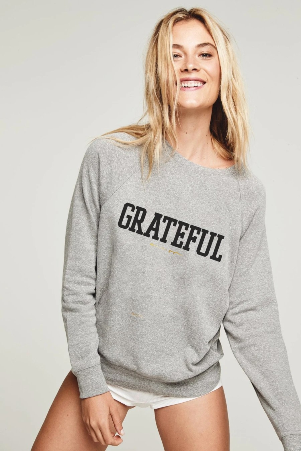 Spiritual Gangster  Grateful Old School Sweatshirt - Main Image