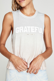 SPIRITUAL GANGSTER Grateful Ombre Muscle Tank - Product Mini Image