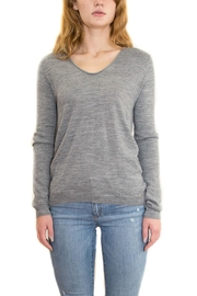 Aggel Gray Basic Sweater - Product Mini Image