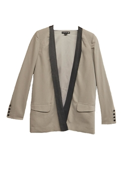 Double Zero Gray Black-Trim Jacket - Product List Image