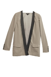 Double Zero Gray Black-Trim Jacket - Product Mini Image