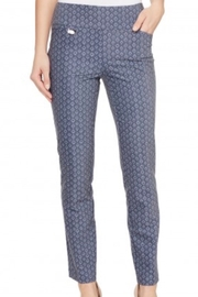 lisette L Gray/ blue printed pant - Product Mini Image