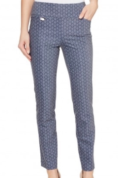 lisette L Gray/ blue printed pant - Product List Image