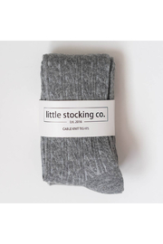 Little Stocking Co Gray Cable Knit Tights - Product Mini Image