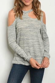 lelis Gray Cold Shoulder - Product Mini Image