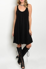 Adore Clothes & More Gray Fringe Dress - Front cropped