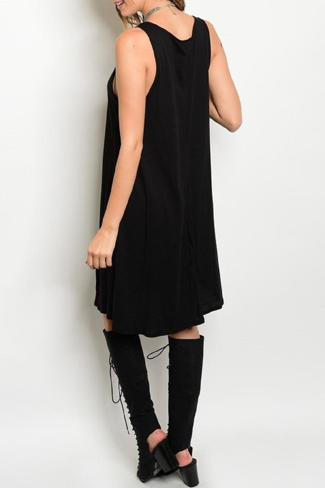 Adore Clothes & More Gray Fringe Dress - Front Full Image