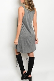 Adore Clothes & More Gray Fringe Dress - Front full body