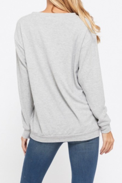 Back in Love Gray Good Vibes Super soft Long Sleeve Knit - Alternate List Image