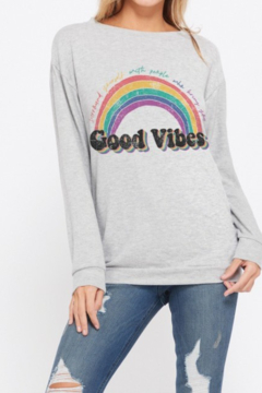 Back in Love Gray Good Vibes Super soft Long Sleeve Knit - Product List Image