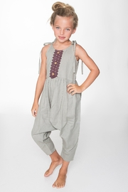 YO BABY Gray Jumpsuit - Front cropped