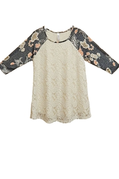 Shoptiques Product: Gray Lace Top