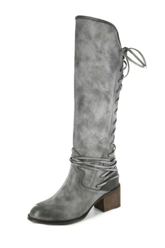 Corkys Gray Lace-Up Boot - Alternate List Image