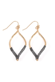 Riah Fashion Gray Marquise Earrings - Product Mini Image