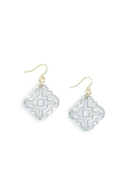 Wild Lilies Jewelry  Gray Medallion Earrings - Product Mini Image