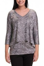 Bali Corp. Gray Overlay Sweater Top - Product Mini Image