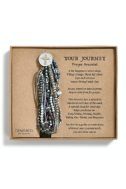 DEMDACO Gray Prayer Bracelet - Product Mini Image