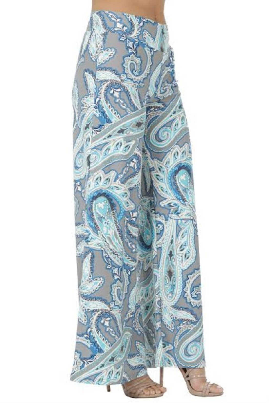 Aryeh Gray Printed Pants - Front Full Image