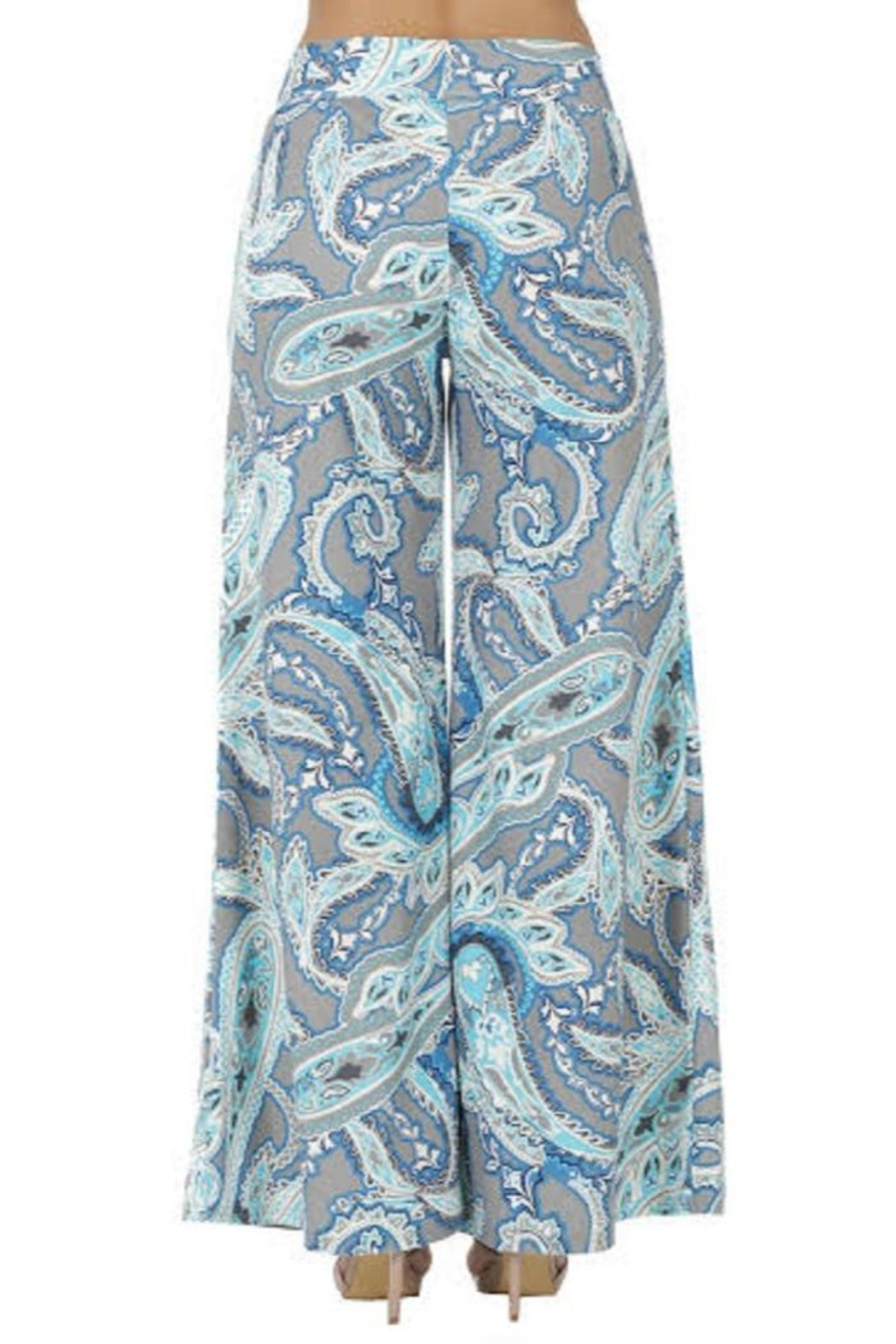 Aryeh Gray Printed Pants - Back Cropped Image