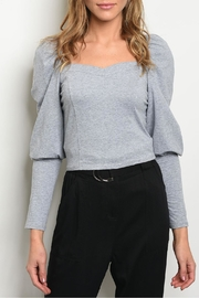 Mustard Seed Gray Puff Top - Product Mini Image