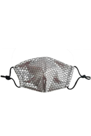 Vava by Joy Hahn Gray Sequin Face Mask - Product Mini Image