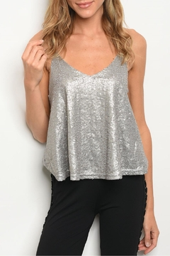 Casting Gray Sequin Top - Product List Image