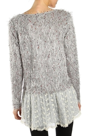 The Vintage Valet Gray Shag Sweater - Front full body