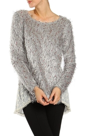 The Vintage Valet Gray Shag Sweater - Product Mini Image