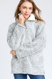 Trend Shop Gray Sherpa Fleece - Front cropped