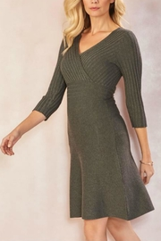 Charlie Paige Gray Sweater Dress - Product Mini Image