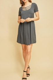Entro Gray Tunic - Front cropped