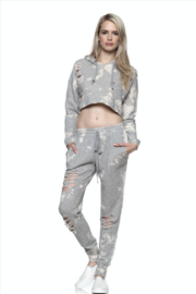 Tiny House of Fashion Gray Two Piece Sweatsuit Set - Product Mini Image