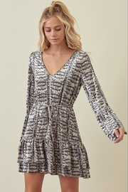 storia Gray Velvet Snake Skin Dress - Product Mini Image