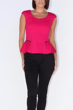 Shoptiques Product: Cap Sleeve Peplum Top