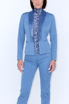 Shoptiques Product: Denim Sequin Blazer