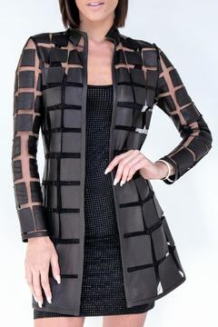 Shoptiques Product: Gradient Square Leather Coat