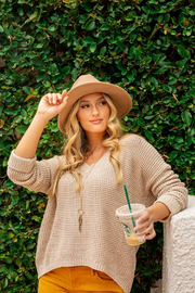 MinkPink Grayson Waffle Knit Sweater - Front cropped