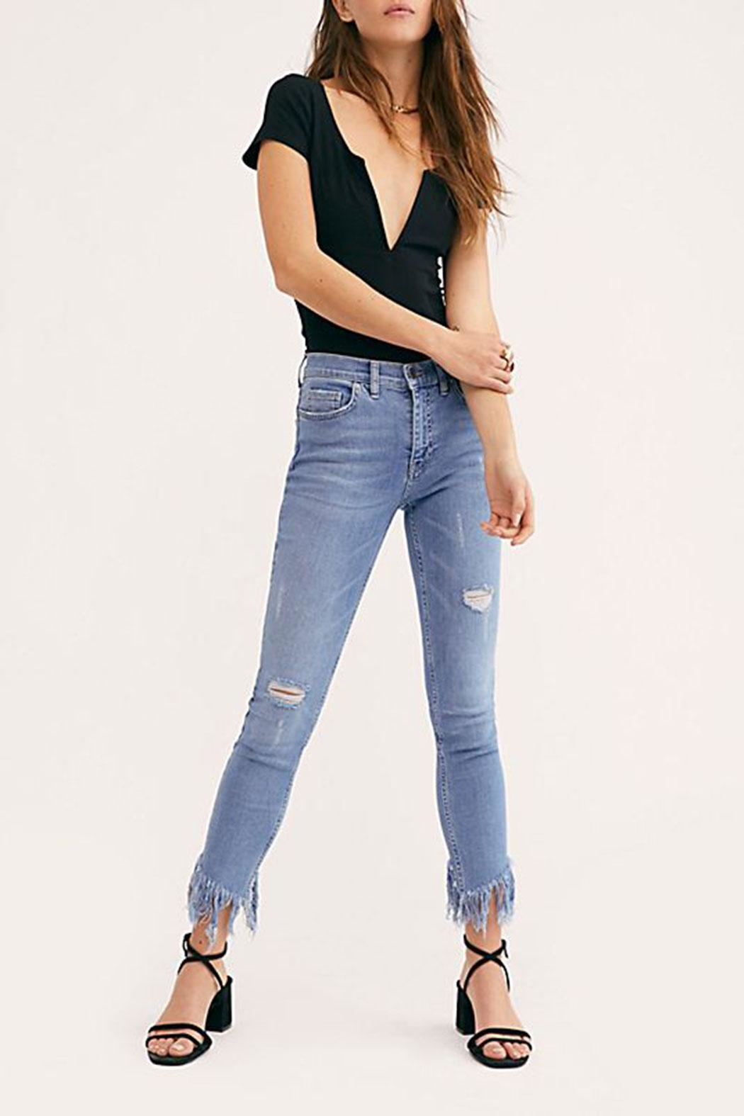 Free People Great-Heights Frayed Skinny-Jean - Main Image