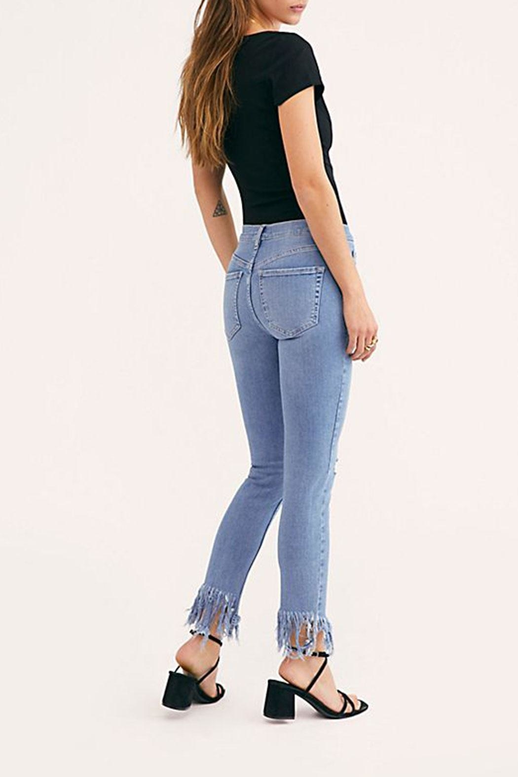 Free People Great-Heights Frayed Skinny-Jean - Side Cropped Image
