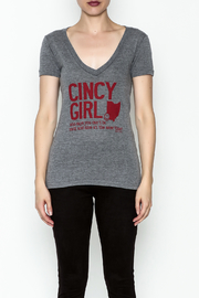 Great To Be Here Cincy V Neck Tee - Front full body