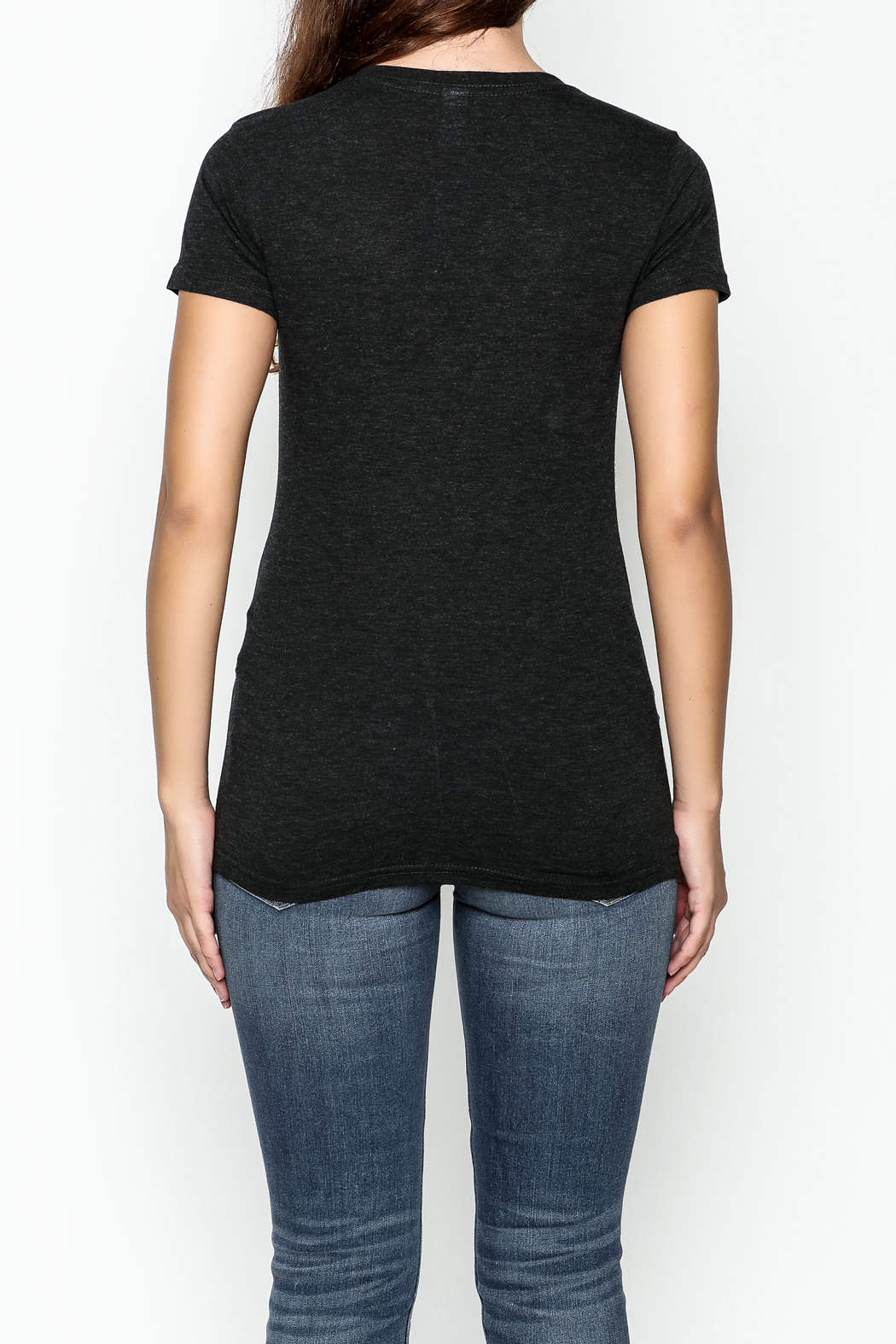 Great To Be Here Cincy V Neck Tee - Back Cropped Image