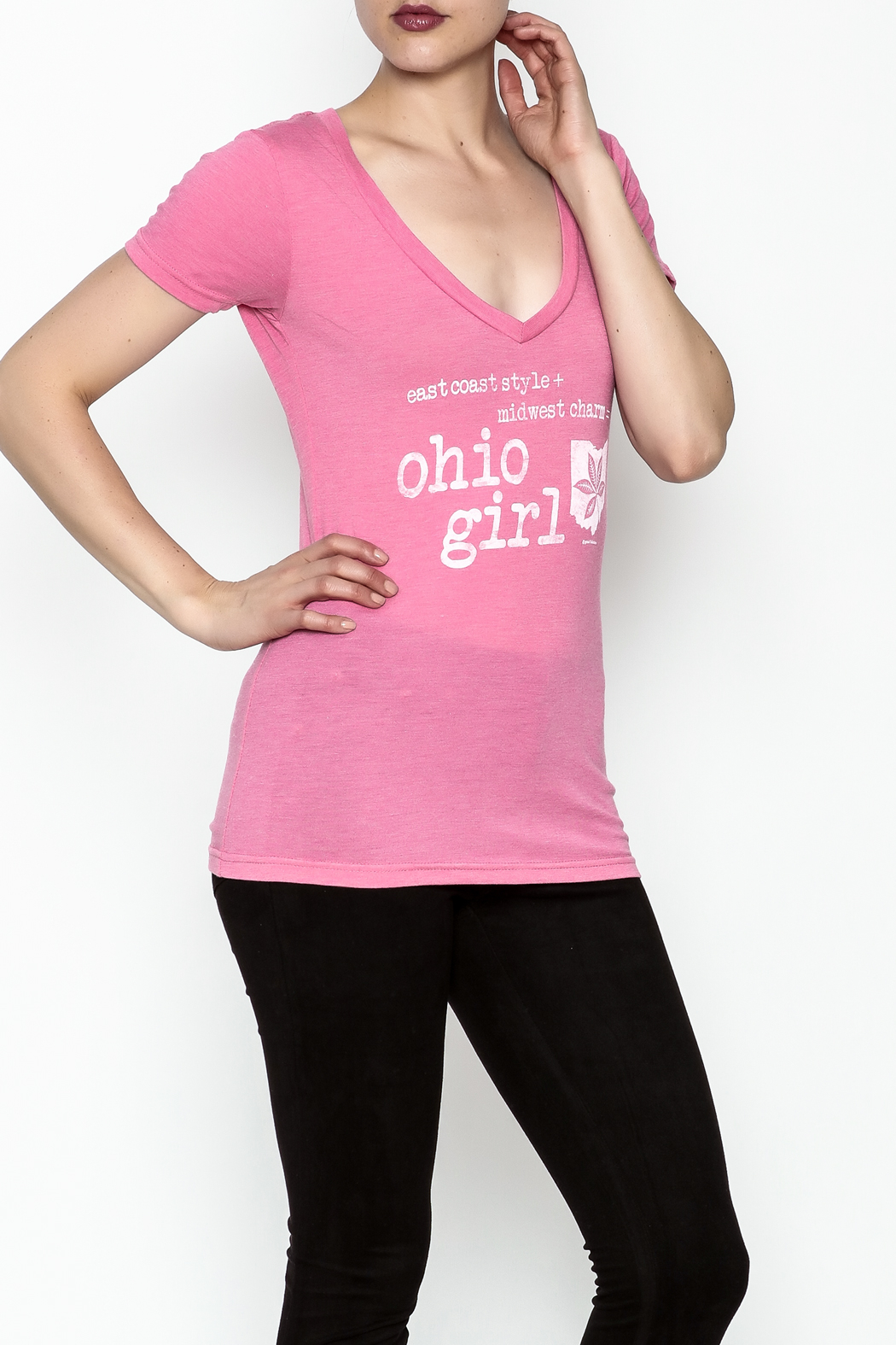 Great To Be Here Ohio V Neck Tee - Main Image
