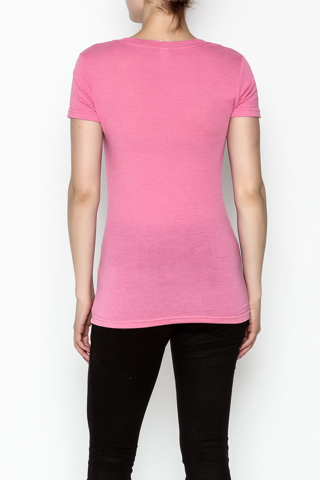 Great To Be Here Ohio V Neck Tee - Back Cropped Image