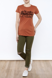 Great to Be Here Tees Cincy Football Tee - Front full body
