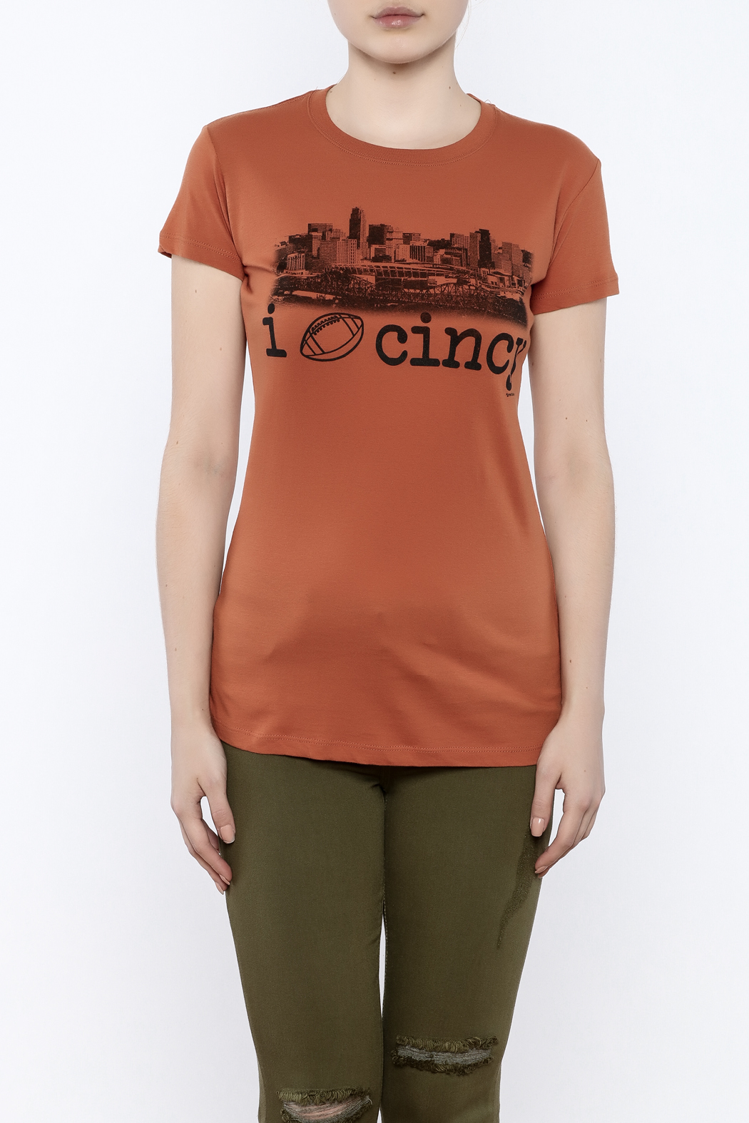 Great to Be Here Tees Cincy Football Tee - Side Cropped Image