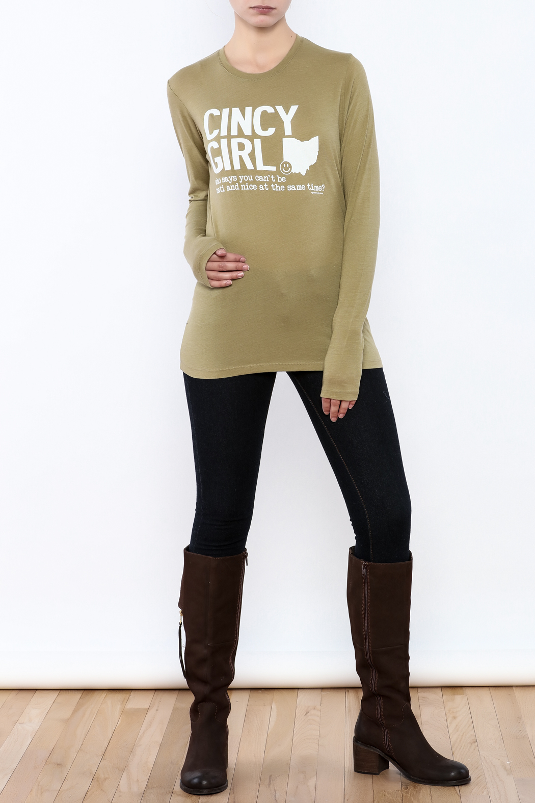 Great to Be Here Tees Cincy Girl Long sleeve - Front Full Image