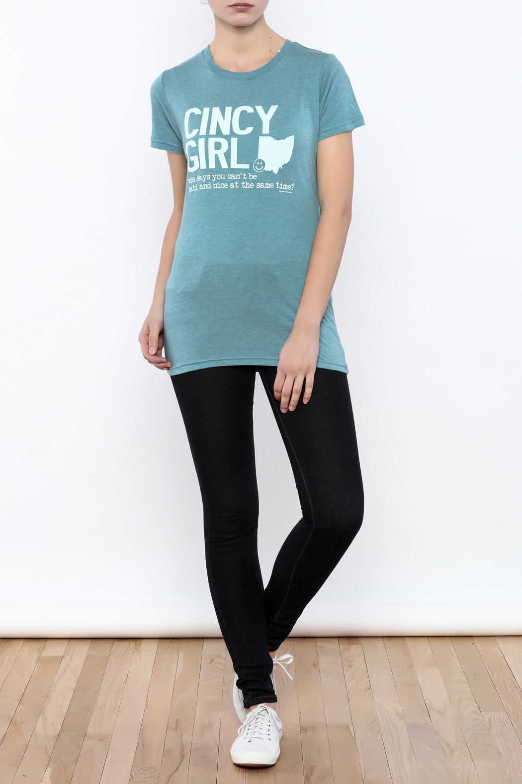 Great to Be Here Tees Cincy Girl Short sleeve - Front Full Image