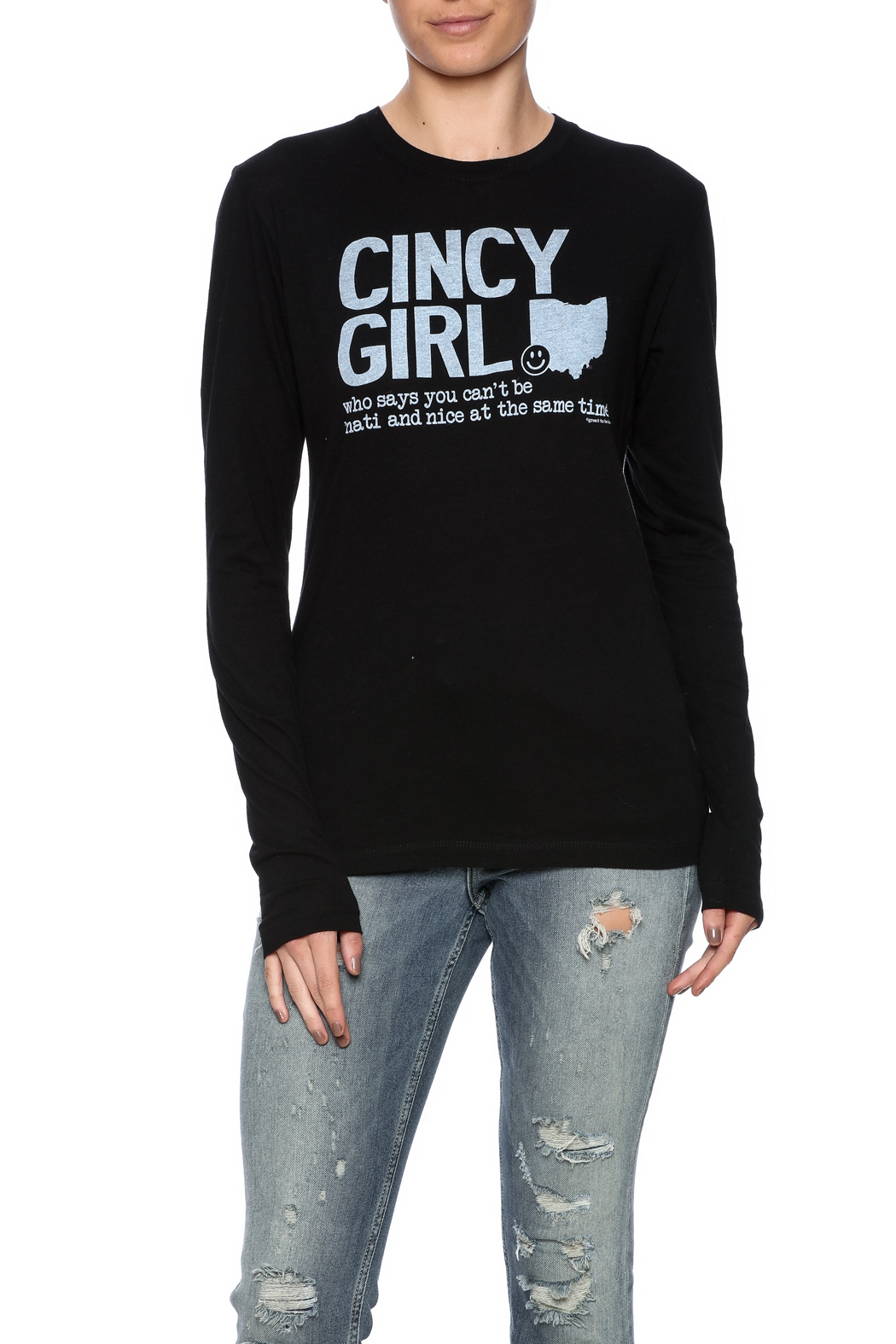 Great to Be Here Tees Crewneck Cincy Tee - Front Cropped Image