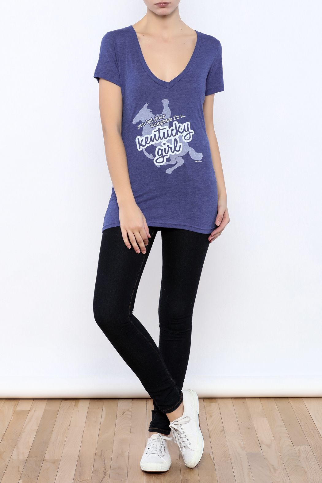 Great to Be Here Tees Kentucky Girl v-neck - Front Full Image